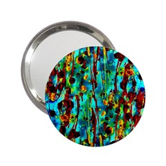 Turquoise Blue Green  Painting Pattern 2.25  Handbag Mirrors