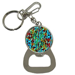 Turquoise Blue Green  Painting Pattern Bottle Opener Key Chains