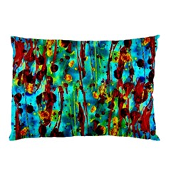 Turquoise Blue Green  Painting Pattern Pillow Cases (Two Sides)