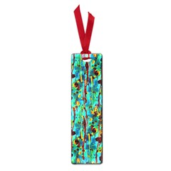 Turquoise Blue Green  Painting Pattern Small Book Marks