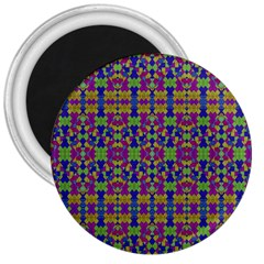 Ethnic Modern Geometric Pattern 3  Magnets