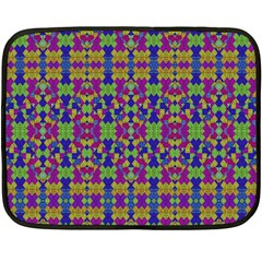 Ethnic Modern Geometric Pattern Fleece Blanket (Mini)