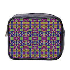 Ethnic Modern Geometric Pattern Mini Toiletries Bag 2-Side