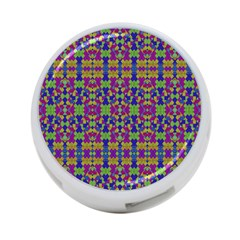 Ethnic Modern Geometric Pattern 4-Port USB Hub (One Side)