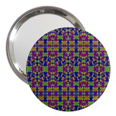 Ethnic Modern Geometric Pattern 3  Handbag Mirrors