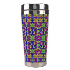 Ethnic Modern Geometric Pattern Stainless Steel Travel Tumblers