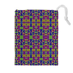 Ethnic Modern Geometric Pattern Drawstring Pouches (Extra Large)