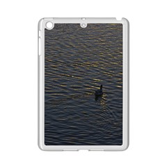 Lonely Duck Swimming At Lake At Sunset Time iPad Mini 2 Enamel Coated Cases