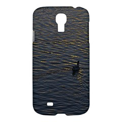 Lonely Duck Swimming At Lake At Sunset Time Samsung Galaxy S4 I9500/I9505 Hardshell Case
