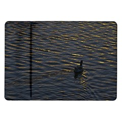 Lonely Duck Swimming At Lake At Sunset Time Samsung Galaxy Tab 10.1  P7500 Flip Case