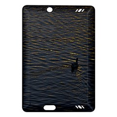 Lonely Duck Swimming At Lake At Sunset Time Kindle Fire HD (2013) Hardshell Case
