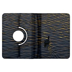 Lonely Duck Swimming At Lake At Sunset Time Kindle Fire HDX Flip 360 Case