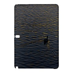 Lonely Duck Swimming At Lake At Sunset Time Samsung Galaxy Tab Pro 12.2 Hardshell Case