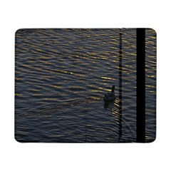 Lonely Duck Swimming At Lake At Sunset Time Samsung Galaxy Tab Pro 8 4  Flip Case