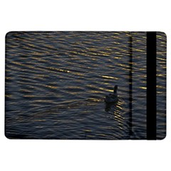 Lonely Duck Swimming At Lake At Sunset Time iPad Air Flip
