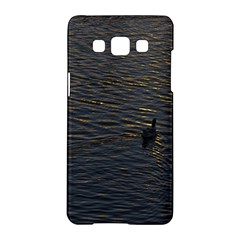 Lonely Duck Swimming At Lake At Sunset Time Samsung Galaxy A5 Hardshell Case