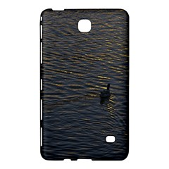 Lonely Duck Swimming At Lake At Sunset Time Samsung Galaxy Tab 4 (8 ) Hardshell Case