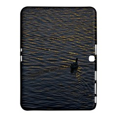 Lonely Duck Swimming At Lake At Sunset Time Samsung Galaxy Tab 4 (10.1 ) Hardshell Case