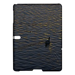 Lonely Duck Swimming At Lake At Sunset Time Samsung Galaxy Tab S (10.5 ) Hardshell Case
