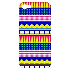 Rectangles waves and circles			Apple iPhone 5 Hardshell Case