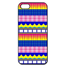 Rectangles waves and circlesApple iPhone 5 Seamless Case (Black)