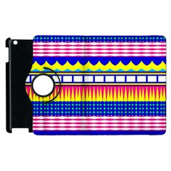 Rectangles waves and circles			Apple iPad 2 Flip 360 Case