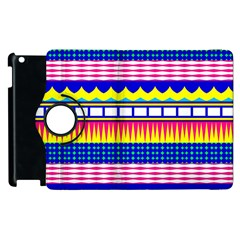 Rectangles waves and circles			Apple iPad 3/4 Flip 360 Case