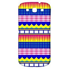 Rectangles waves and circlesSamsung Galaxy S3 S III Classic Hardshell Back Case