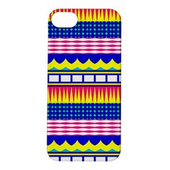 Rectangles waves and circlesApple iPhone 5S Hardshell Case