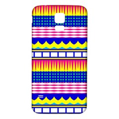 Rectangles waves and circles			Samsung Galaxy S5 Back Case (White)