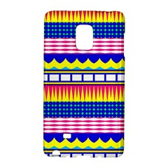 Rectangles waves and circlesSamsung Galaxy Note Edge Hardshell Case
