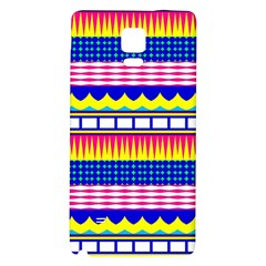 Rectangles waves and circles			Samsung Note 4 Hardshell Back Case