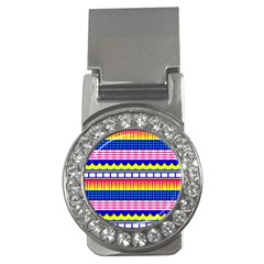 Rectangles waves and circlesMoney Clip (CZ)