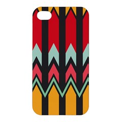 Waves and other shapes pattern Apple iPhone 4/4S Hardshell Case