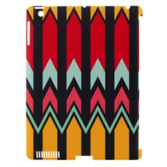 Waves and other shapes patternApple iPad 3/4 Hardshell Case (Compatible with Smart Cover)