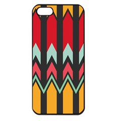 Waves and other shapes patternApple iPhone 5 Seamless Case (Black)