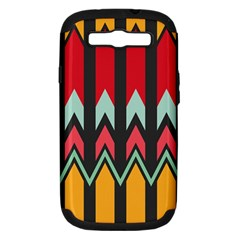 Waves and other shapes pattern			Samsung Galaxy S III Hardshell Case (PC+Silicone)