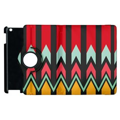 Waves and other shapes patternApple iPad 3/4 Flip 360 Case