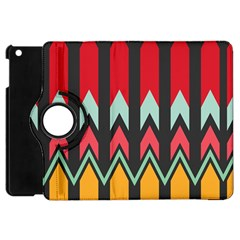 Waves and other shapes pattern			Apple iPad Mini Flip 360 Case