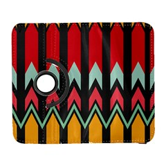 Waves and other shapes pattern			Samsung Galaxy S III Flip 360 Case