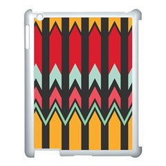 Waves and other shapes patternApple iPad 3/4 Case (White)