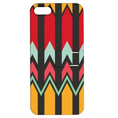 Waves and other shapes patternApple iPhone 5 Hardshell Case with Stand