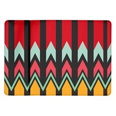 Waves and other shapes pattern			Samsung Galaxy Tab 10.1  P7500 Flip Case