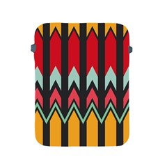 Waves and other shapes patternApple iPad 2/3/4 Protective Soft Case