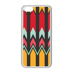 Waves and other shapes patternApple iPhone 5C Seamless Case (White)