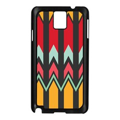 Waves and other shapes patternSamsung Galaxy Note 3 N9005 Case (Black)