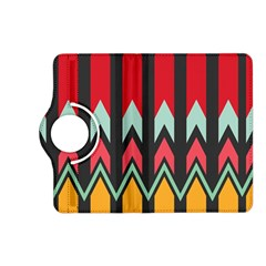 Waves and other shapes pattern			Kindle Fire HD (2013) Flip 360 Case