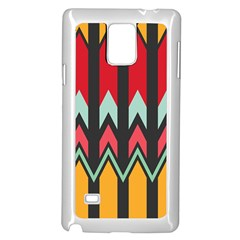 Waves and other shapes patternSamsung Galaxy Note 4 Case (White)