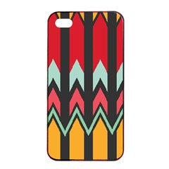 Waves and other shapes patternApple iPhone 4/4s Seamless Case (Black)
