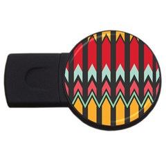 Waves and other shapes pattern			USB Flash Drive Round (1 GB)